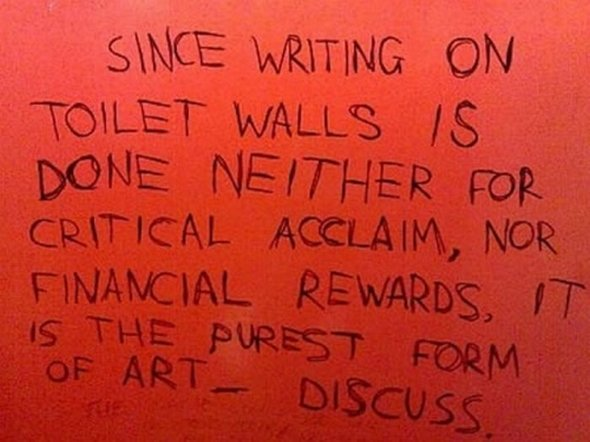 24 Humanistic Toilet Inscription