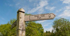 Offa's Dyke path near Oswestry