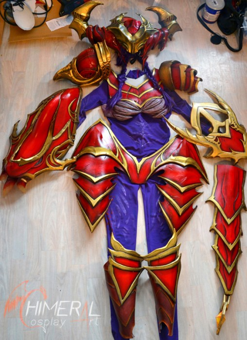 WIP Shyvana cosplay complete armor