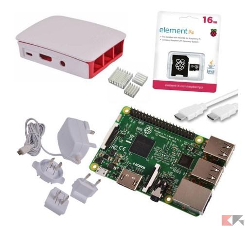 Bundle raspberry pi i kit completi pi convenienti for Case pc colorati