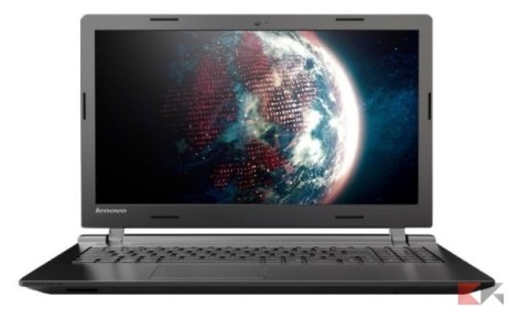 Lenovo B50-10 Notebook con Windows 10, Intel Celeron N2840, RAM da 4GB, Hard-dis