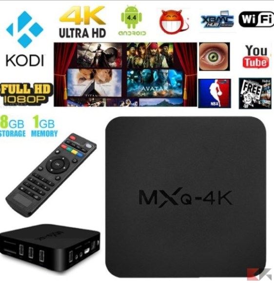 MXQ 4K_2K 1080P Smart TV BOX XBMC_Kodi H.265 Android Quad Core WiFi 8GB Mini PC