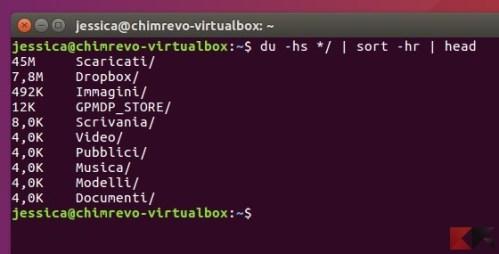 Trovare file e cartelle di grandi dimensioni in Linux - du