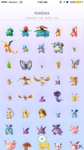 pokemon GO - pokedex