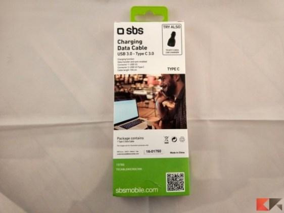 sbs USB 3.0 Type-A Type-C cavo dati + ricarica