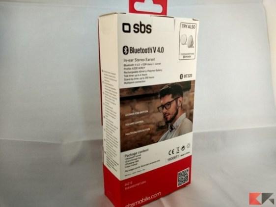 SBS Auricolare bluetooth universale multipoint mono BT320K