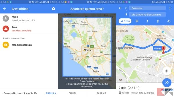 mappe offline google maps