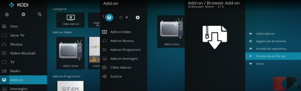 Add-on kodi: installazione su Kodi 17