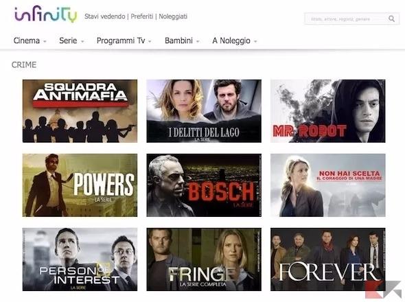 mediaset infinity - come vedere serie tv in streaming