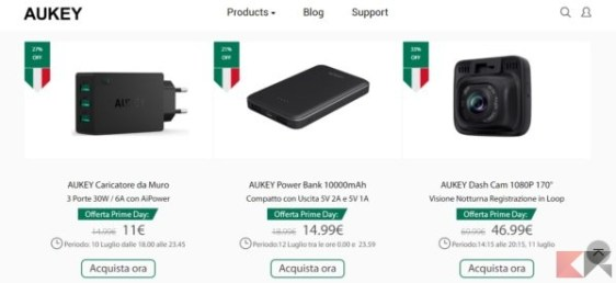 AUKEY offerte - Amazon Prime Day