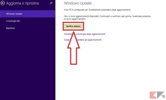 come aggiornare windows e controllare aggiornamenti disponibili