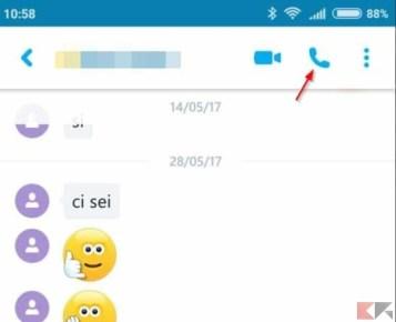 telefonare con skype