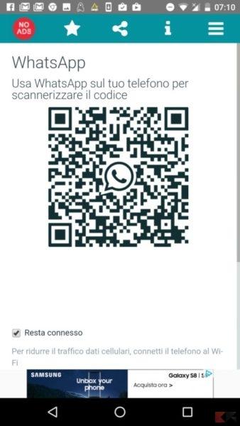 come spiare whatsapp qr code