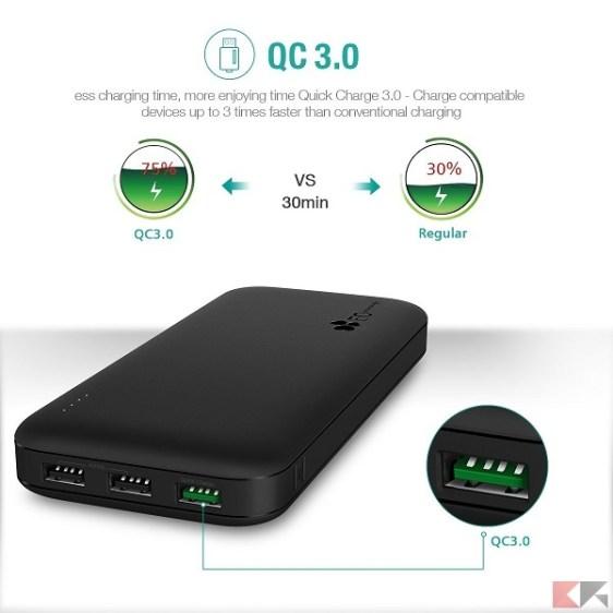 Power Bank Quick Charge 3.0 - EC TECHNOLOGY 21.000 mAh
