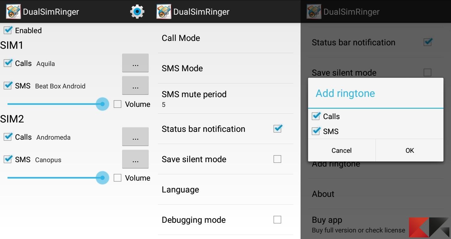 Impostare suonerie diverse per ogni SIM su Android