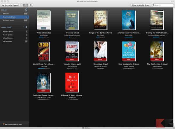 programmi per Kindle: il client ufficiale di Amazon