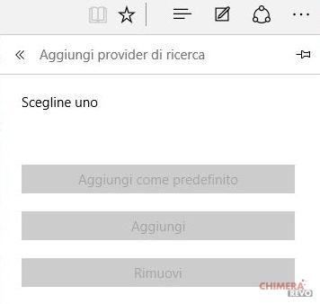 Cambiare motore di ricerca in Microsoft Edge