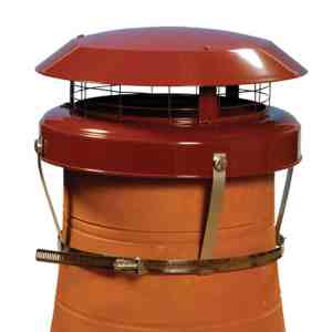 Colt Top 2 Chimney Cowl Terracotta