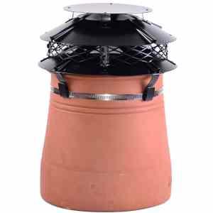 Brewer UFO Mark II Terracotta Cowl - Strap Fixing Black