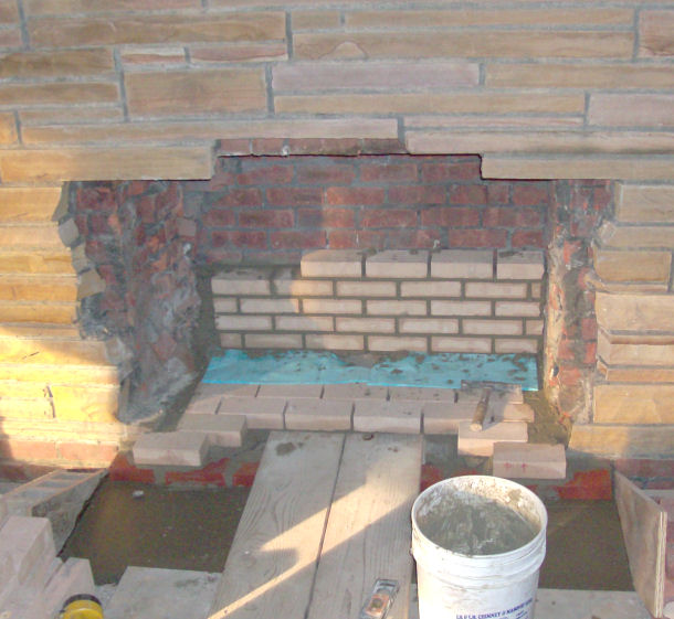 Refacing Stone Fireplace