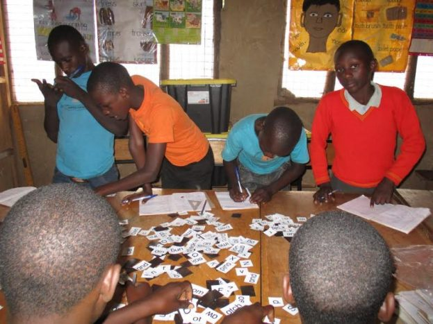 Children engage in classwork at the creative learning centre.