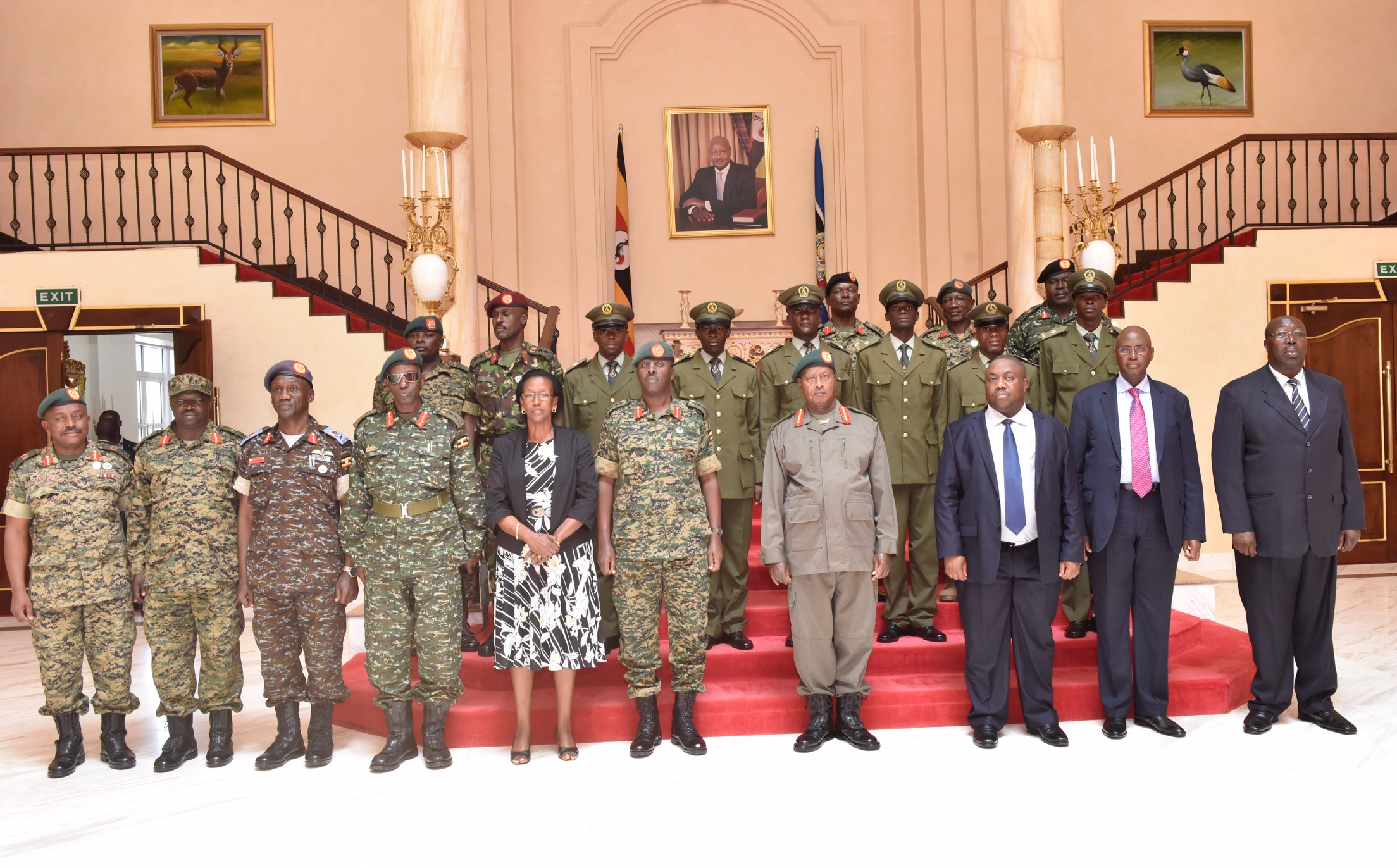 President yoweri museveni who is also the commander in chief of the ugandas peoples defence forces updf commissioned 6 officer cadets to the rank of