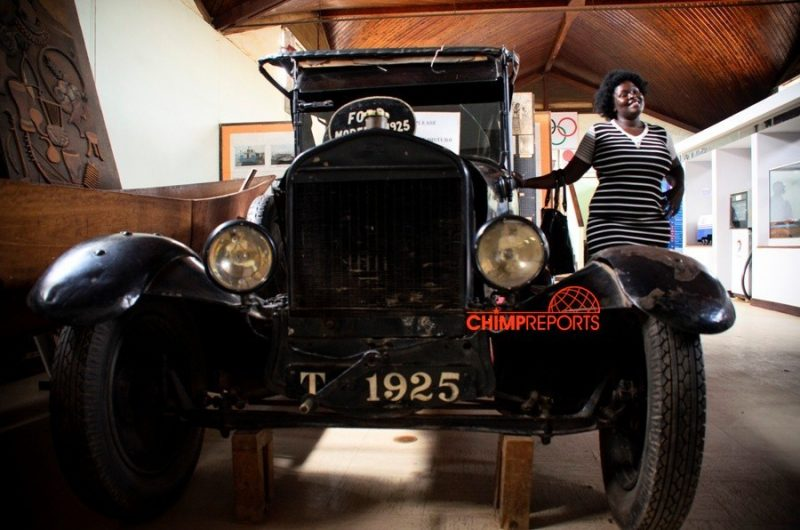 One of the vintage cars in the Uganda Museum