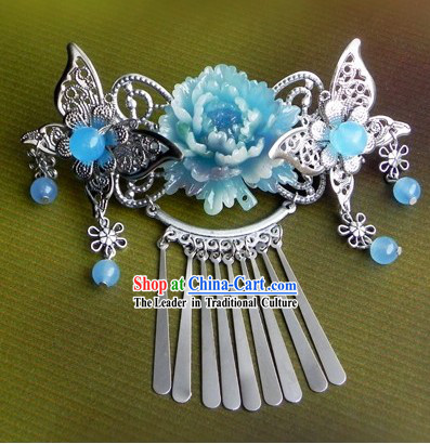 Traditional Chinese Handmade Butterfly And Flower Hair