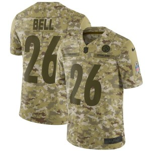 7787e8175 Men s Pittsburgh Steelers Le Veon Bell Nike Camo Salute to Service Limited  Jersey