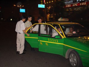 storming the taxi