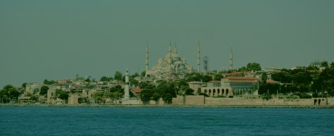 Istanbul Blue Mosque as seen from the Bosphorus