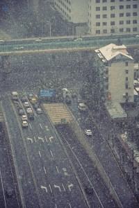 China, Shanghai, Snowfall