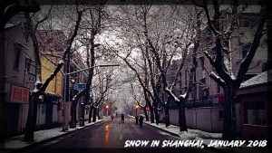 China, Shanghai, Snow, Winter
