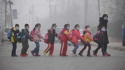 致命: 中国雾霾严重时一天等同吸60根烟