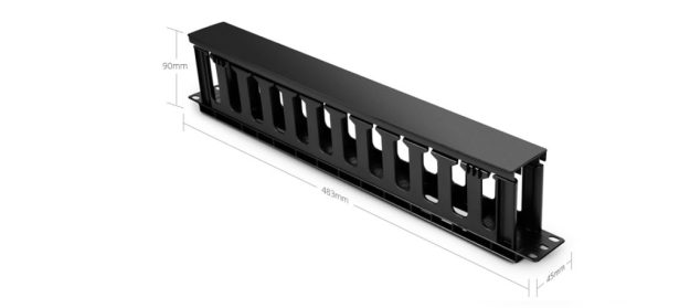 1U single sided horizontal cable manager with finger duct
