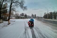 Durch Eis und Schnee nach Bishkek.