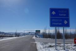 Straßenschild Irkeshtam nach Kashgar