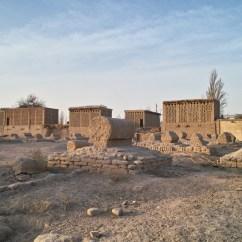 Trockenräume zur Weintraubenherstellung in Turpan
