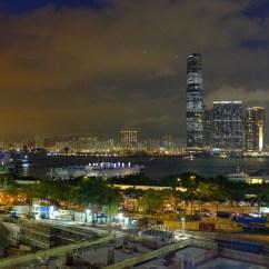 Kowloon bei Nacht.