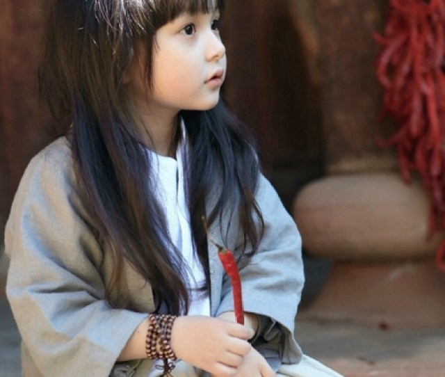 Cute Girl In Han Chinese Costume