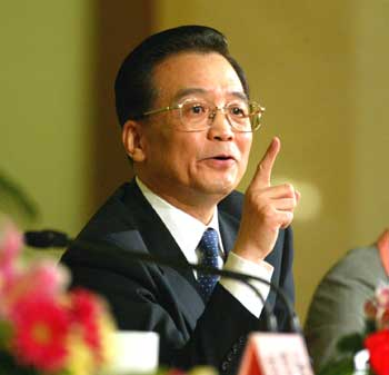 Le premier ministre chinois Wen Jiabao