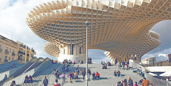 Metropol Parasol An Immense Mushroom Like Grid Structure