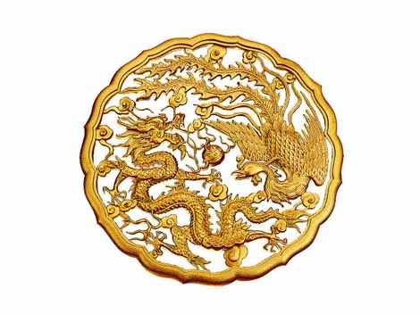 Chinese phoenix - auspicious bird rising from ashes