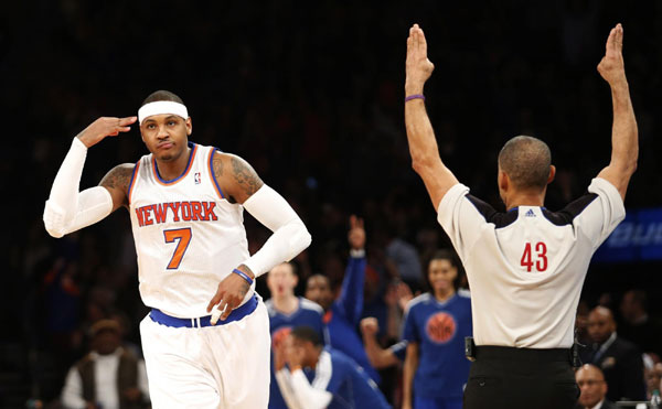 Image result for carmelo anthony three point