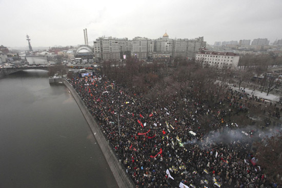 Massive rally in Moscow ends without clashes