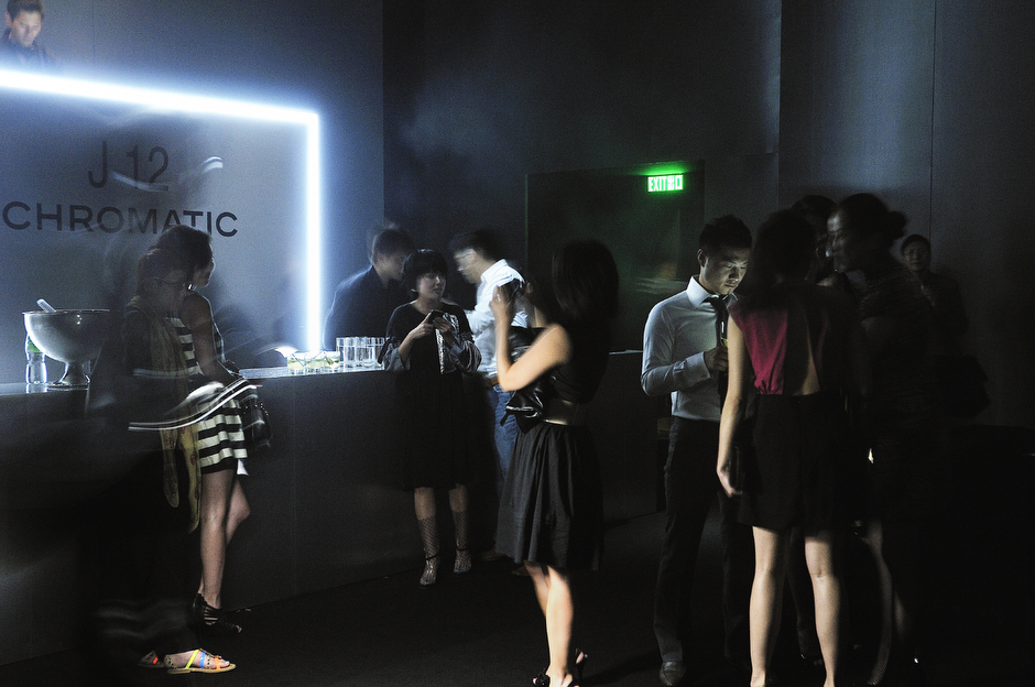 At a party for Chanel's new line of watches. In Hong Kong, where expensive tastes and luxury goods continue to fire the economy, today's biggest spenders now come from the mainland, putting locals in the uncomfortable position of being dependent on the visitors who not long ago they considered unsophisticated bumpkins.