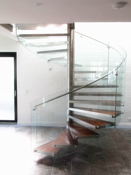 Glass Railing Spiral Staircase Demax Arch   Spiral Staircase With Glass Railing   Metal   Residential   In India Staircase   Contemporary Glass   Thin Glass