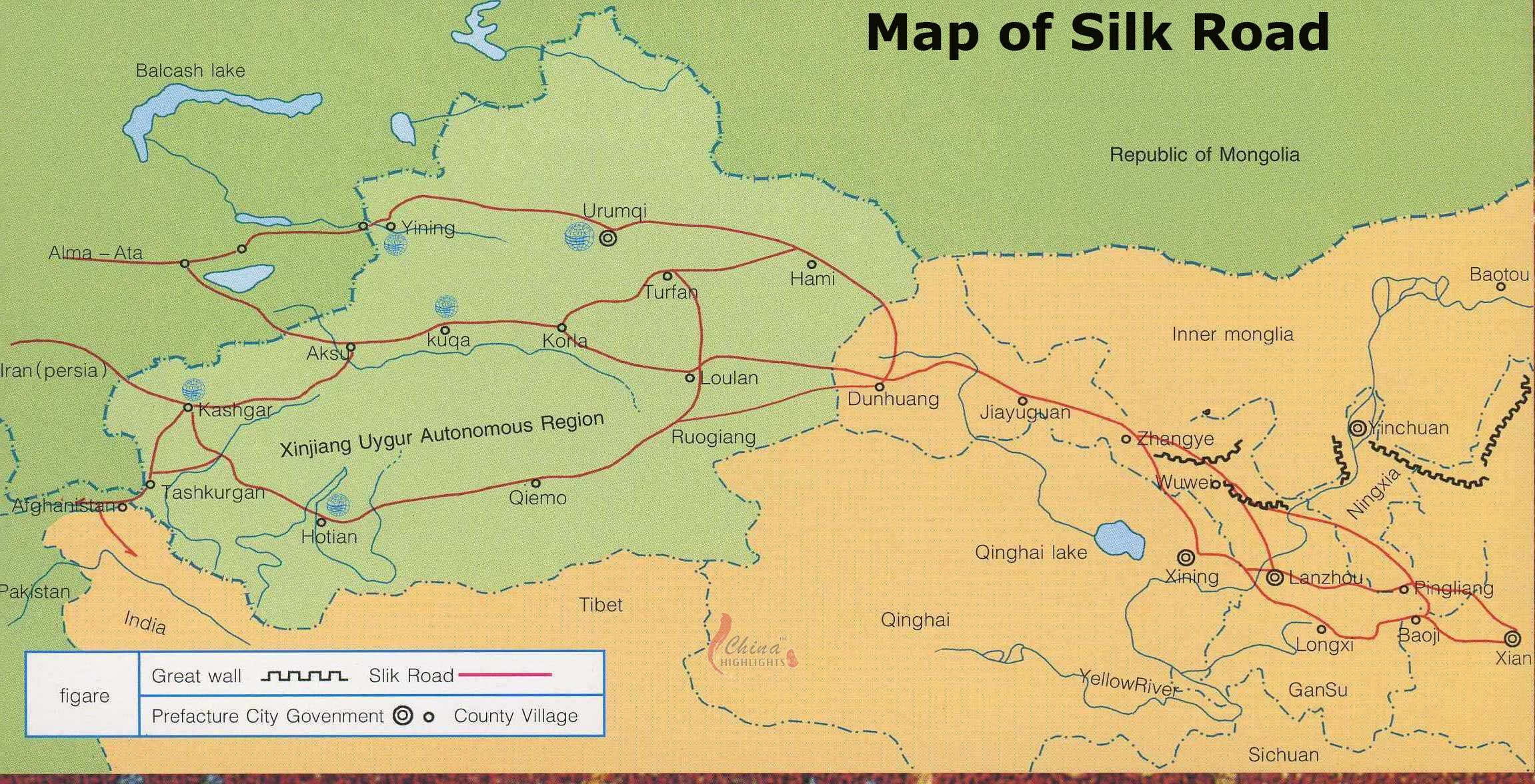 Silk Road Maps A Map Hepls Your Explore The Silk Road