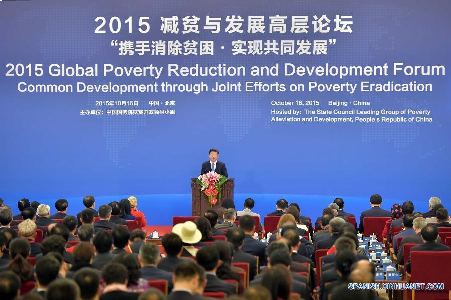Enfoque: China propone esfuerzos conjuntos para alivio de pobreza