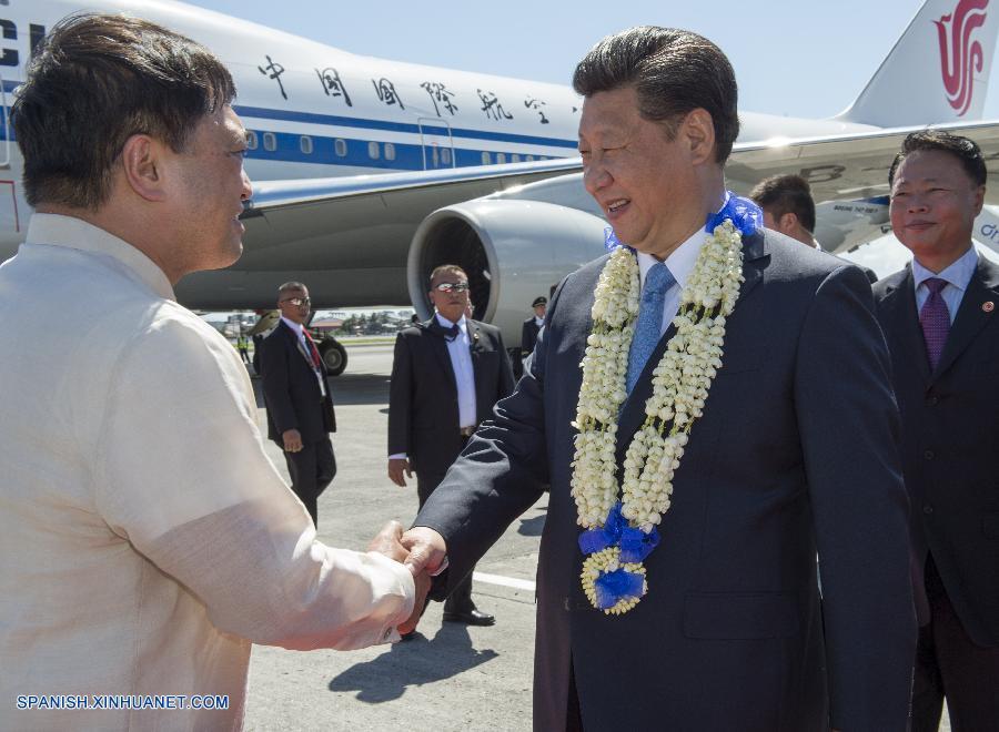 Presidente chino llega a Filipinas para reunión del APEC